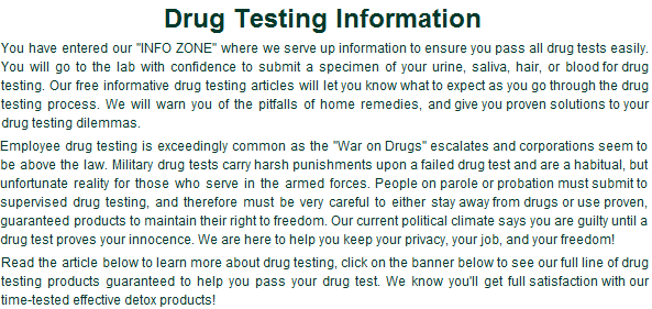 Drug Homemade Pass Test